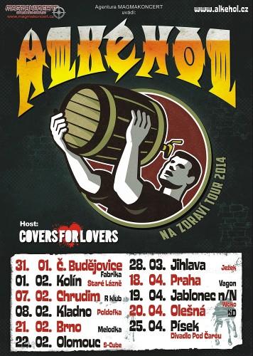 Vizuál k turné kapely Alkehol