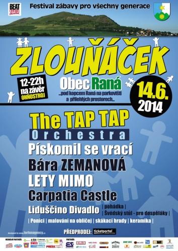 Layout plakátu regionálního festivalu